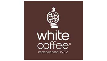 White coffee company logo