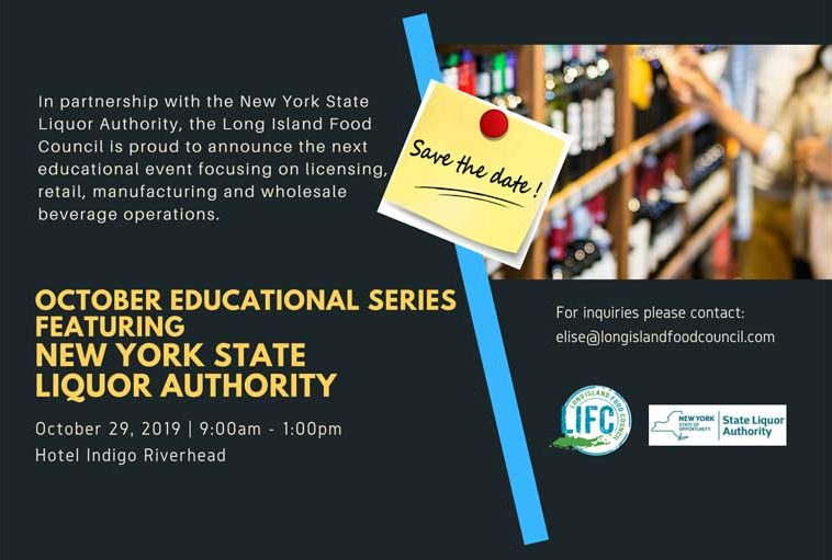 Long Island Food Council Educational Series flyer