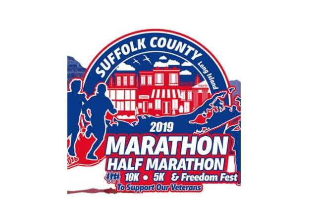 2019 Suffolk county Marathon logo