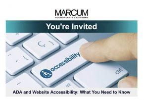 ADA Compliant Webinar flyer