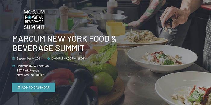Food & Beverage Summit flyer