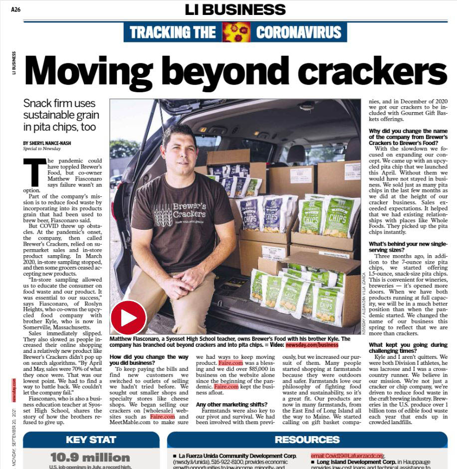 Brewer's Crackers article